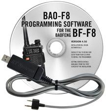 BAO-F8 Programming Software and USB-K4Y cable for the  Baofeng/P