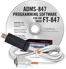 ADMS-847 Programming Software and USB-65 cable for the Yaesu FT-