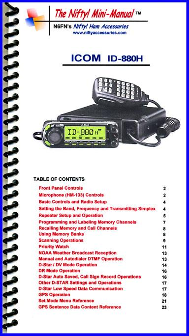 ID-880H Nifty Mini Manual