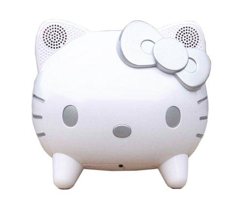 Sanrio Hello Kitty Touch Sensitive iPod Dock - White / Silver