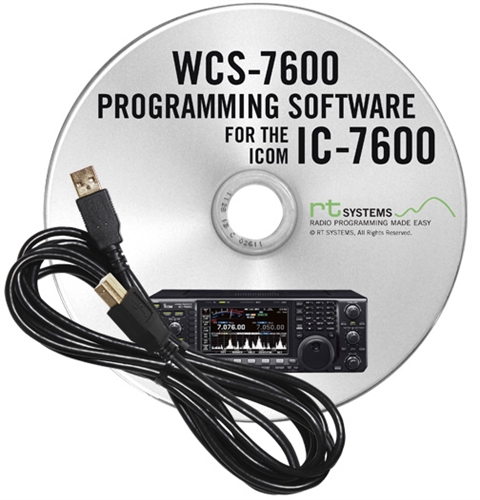Programming Software and RT-42 cable for the Icom IC-7600