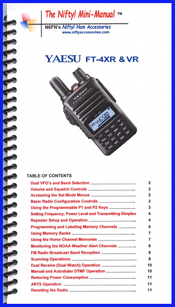 Yaesu FT-4XR & FT-4VR Mini-Manual 1