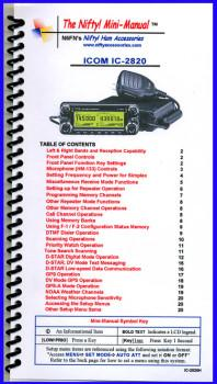 Icom IC-2820 Nifty Mini Manual