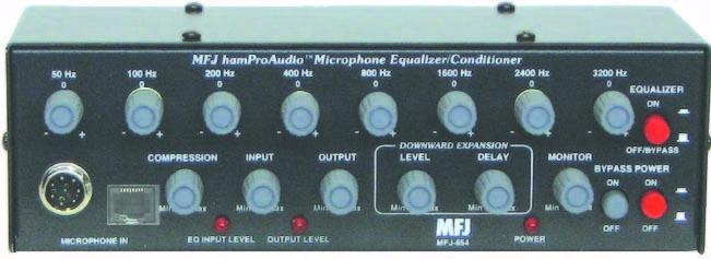 MFJ-654 Equaliser & Conditioner 8-band for Voice (No VU meter).