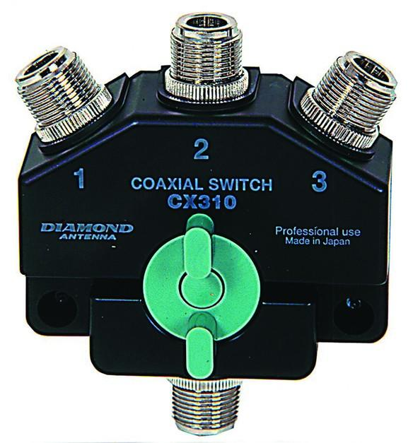 Diamond CX-310N 3-way Coax Switch (N-type)