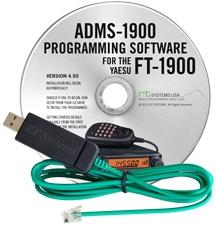 ADMS-1900 Programming Software and USB-29F cable for the Yaesu F