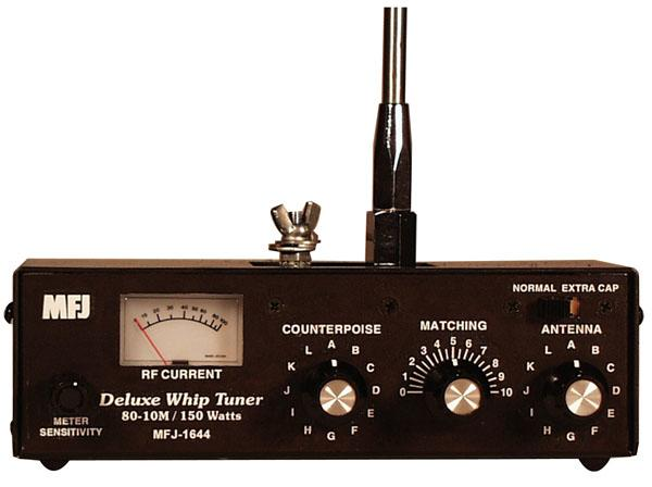 MFJ-1644 150 Watt 80 - 10 Meter Whip Tuner / Artificial Ground