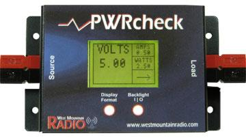 PWR/check - Intergrated DC analyzer, watt meter and volt meter