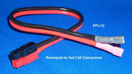 PPL/12 - Powerpole to Gel Cell Connectors