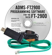 ADMS-2900 Programming Software and USB-29F cable for the Yaesu F