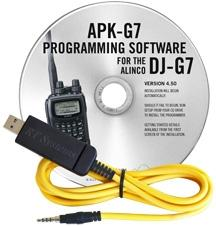 APK-G7 Programming Software and USB-57B cable for the Alinco DJ-