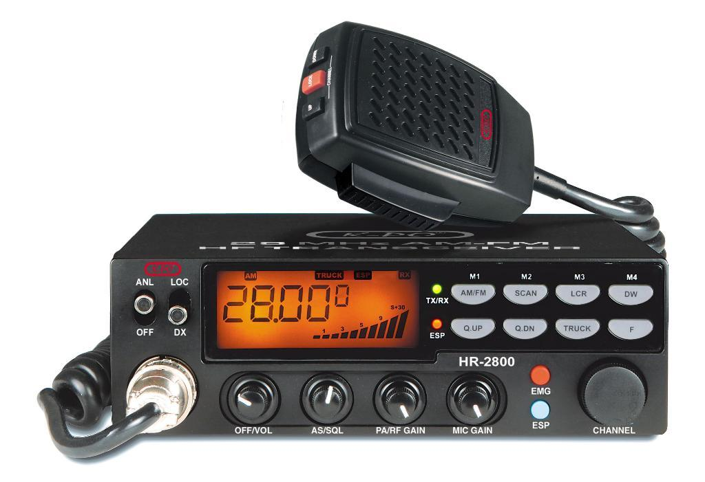 K-PO HR-2800 - AM/FM 10-meter mobile amateur transceiver
