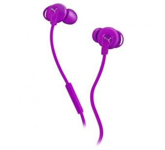 Puma Bulldogs In-Ear Headphones with Mic - Purple