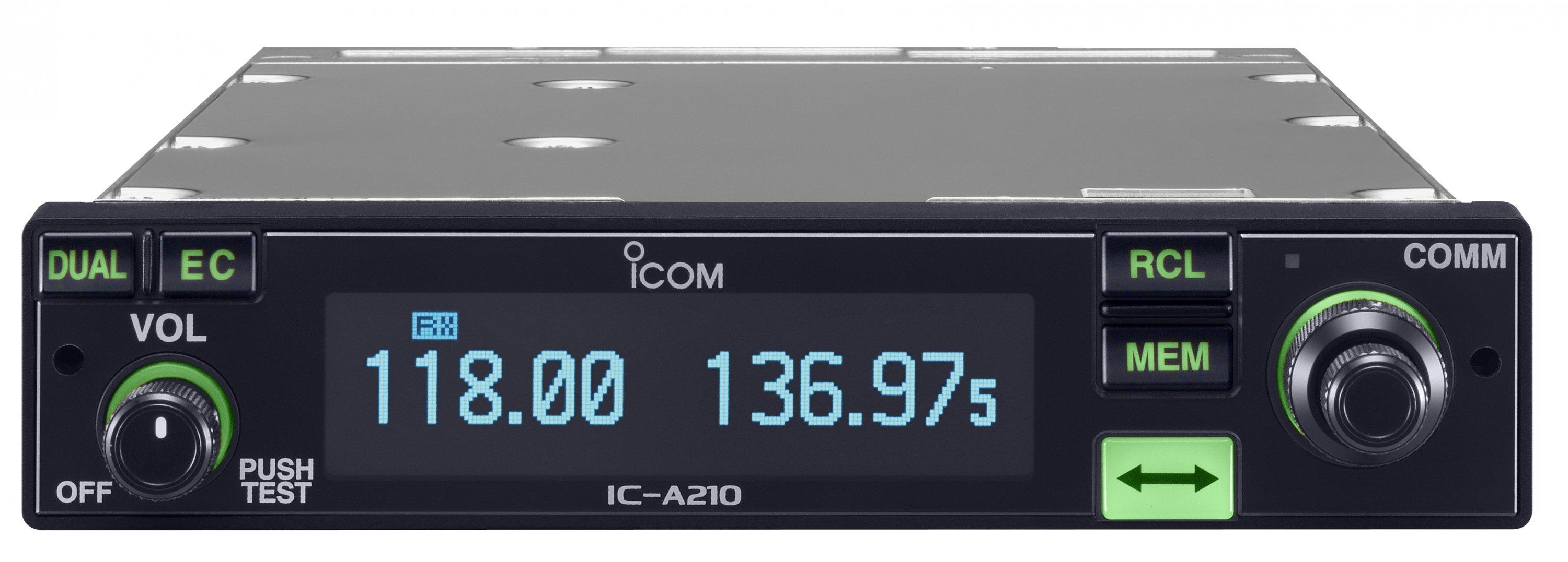 Icom IC-A210 VHF Ground to Air Panel Mount Transceiver