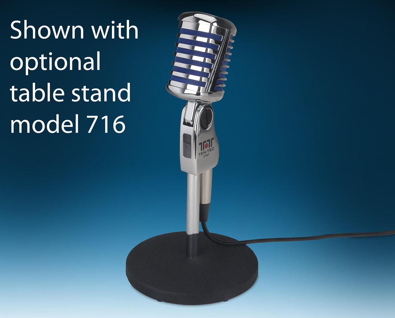 707 Regal desk microphone with 707/T8 lead included (Ten Tec 8 p