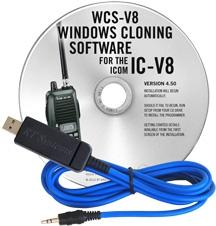 WCS-V8 Programming Software and USB-29A cable for the Icom IC-V8