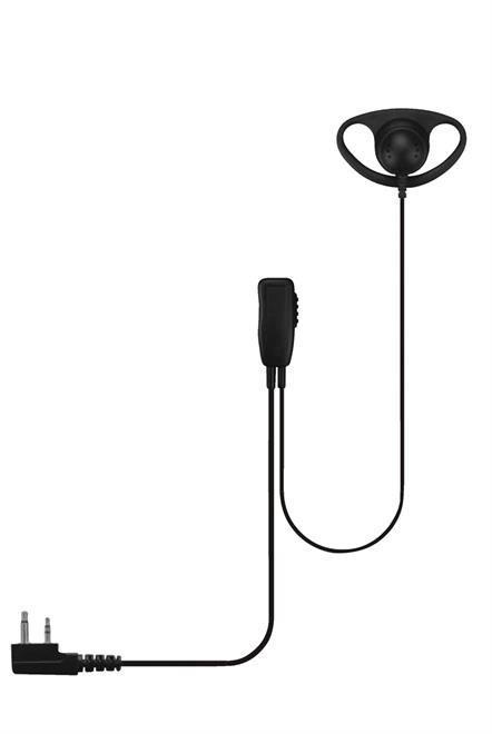 D Shape Earpiece Ptt + Lapel Mic