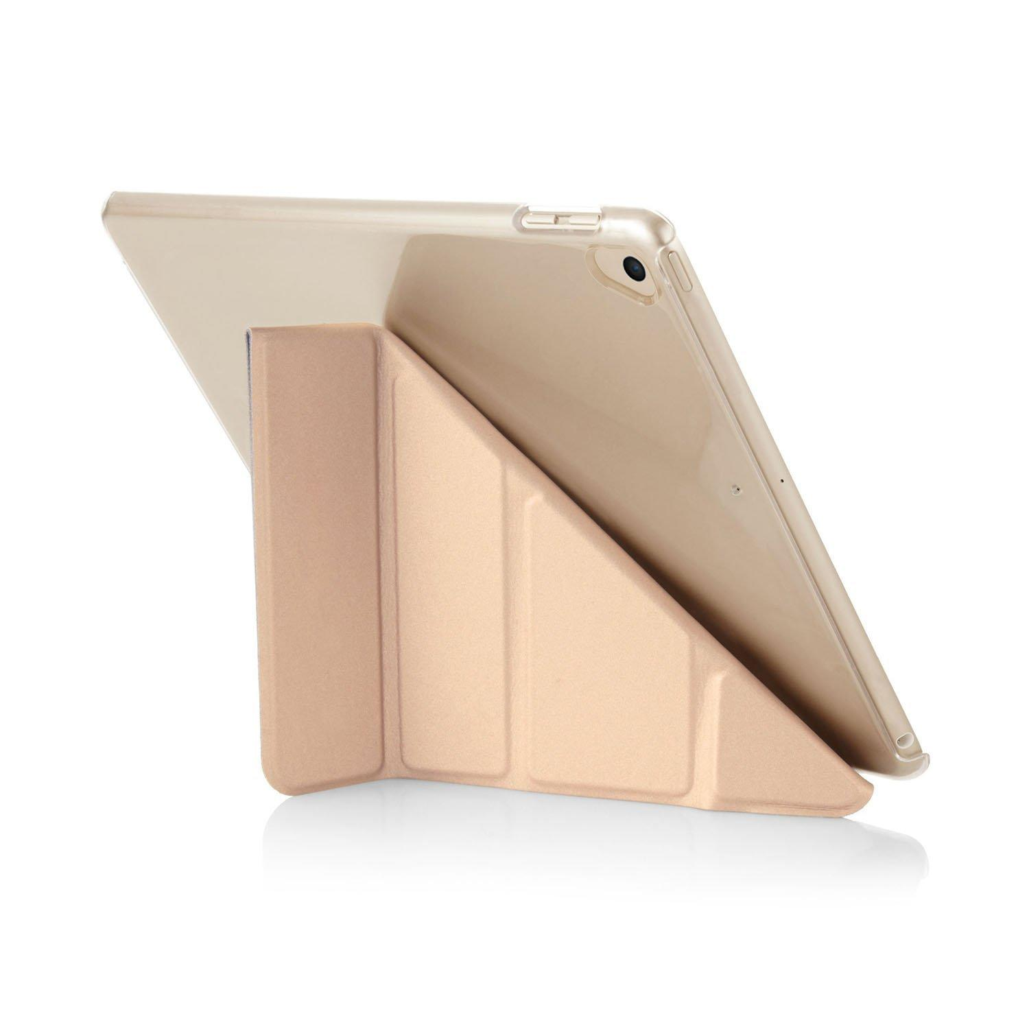 iPad 9.7 Case Origami Champagne Gold & Clear
