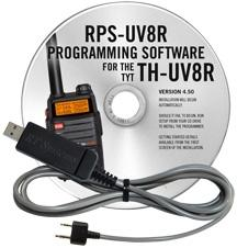 RPS-UV8R Programming Software and USB-K4Y cable for the TYT TH-U