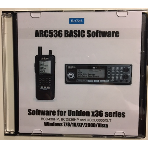 Butel ARC536 Basic Software for Uniden UBCD3600XLT