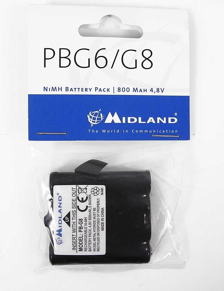 Midland PBG6/G8 Battery pack for G6/G8 range