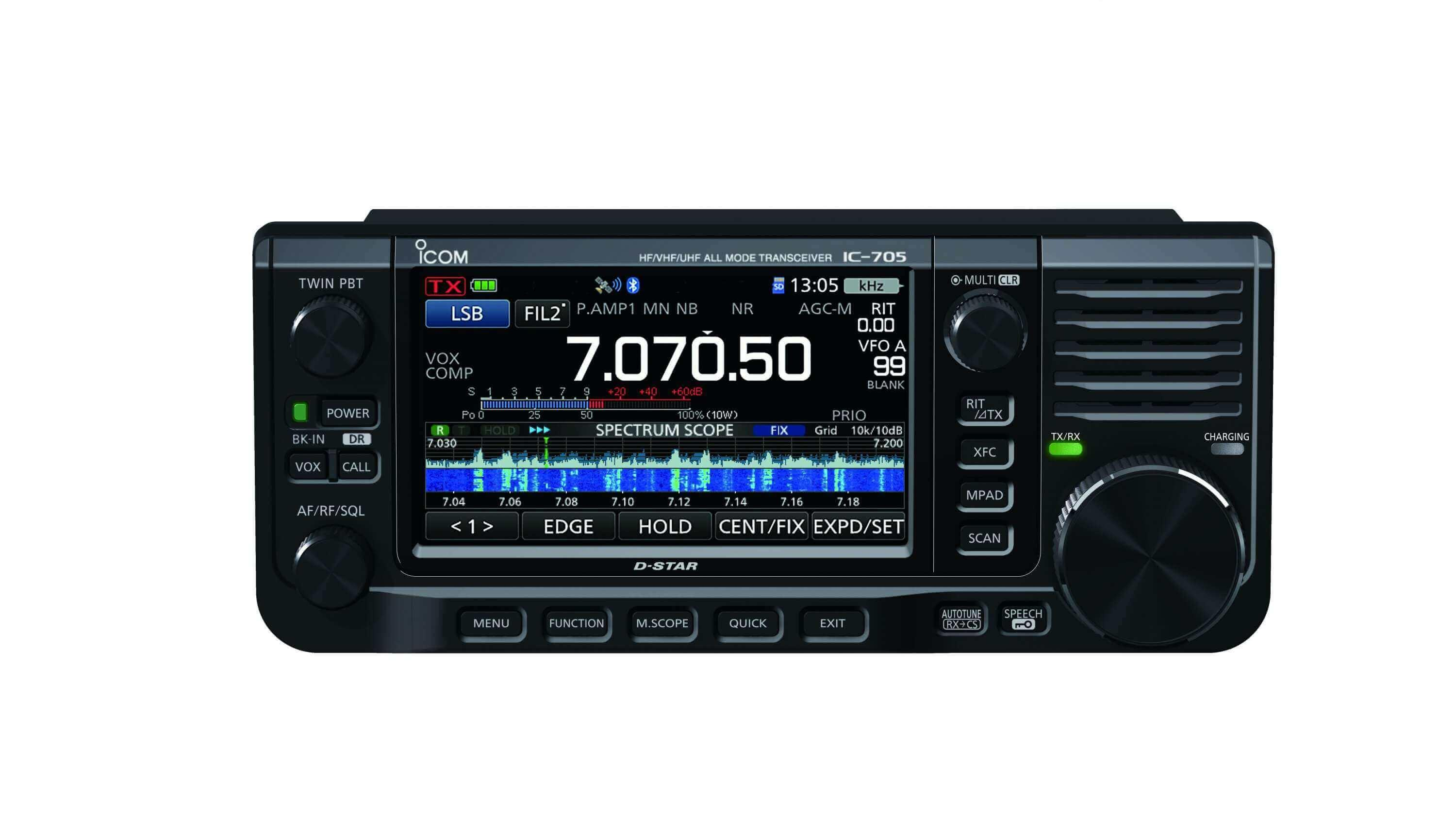 Icom IC-705 HF/50/144/430MHz All Mode Transceiver