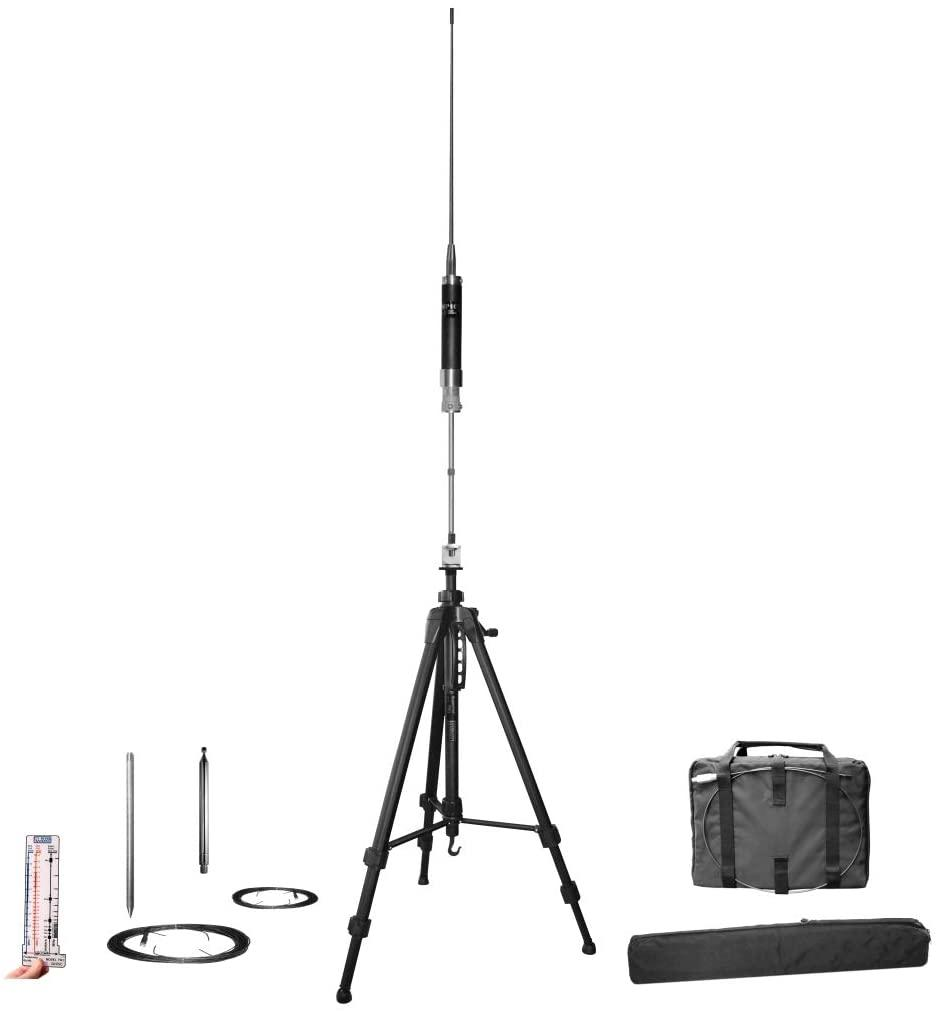 Super Antenna MP1LX Tripod HF 40m-10m Portable Vertical SuperWhip with Go Bags