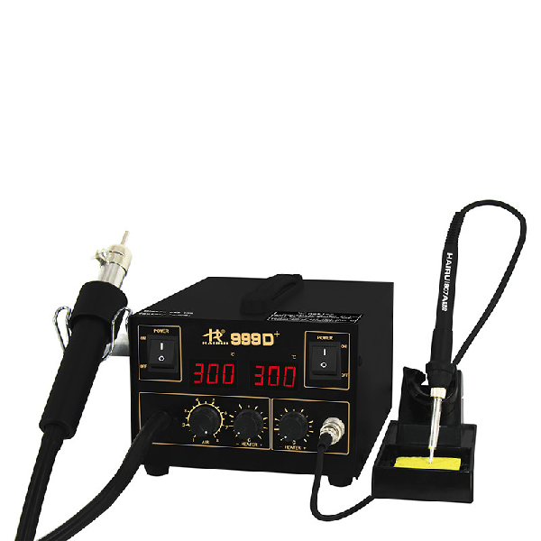 HAIRUI 999D+ ESD Lead-free Digital Intelligent 2 in 1 Rework Station
