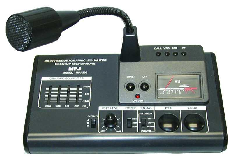 MFJ-299 - Deluxe Desk Top Microphone and Equalizer