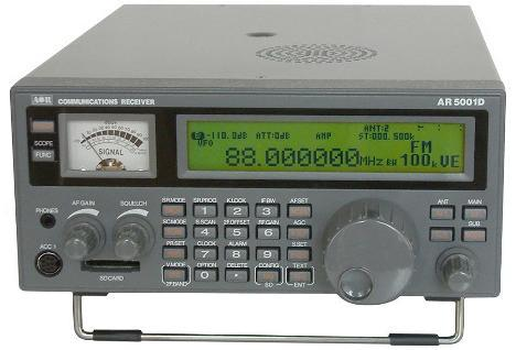 AOR AR-5001D 40kHz - 3.15GHz. Base receiver