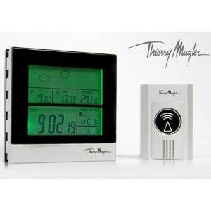 Wireless Thierry Mugler Weather Station Clock & Sensor