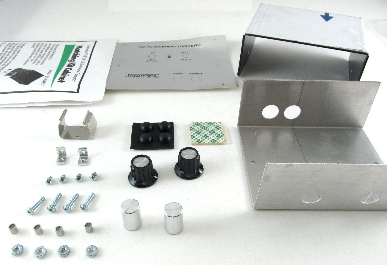 VEC-101KC Vectronics Metal Case & Knob Set for VEC-101K Kit.