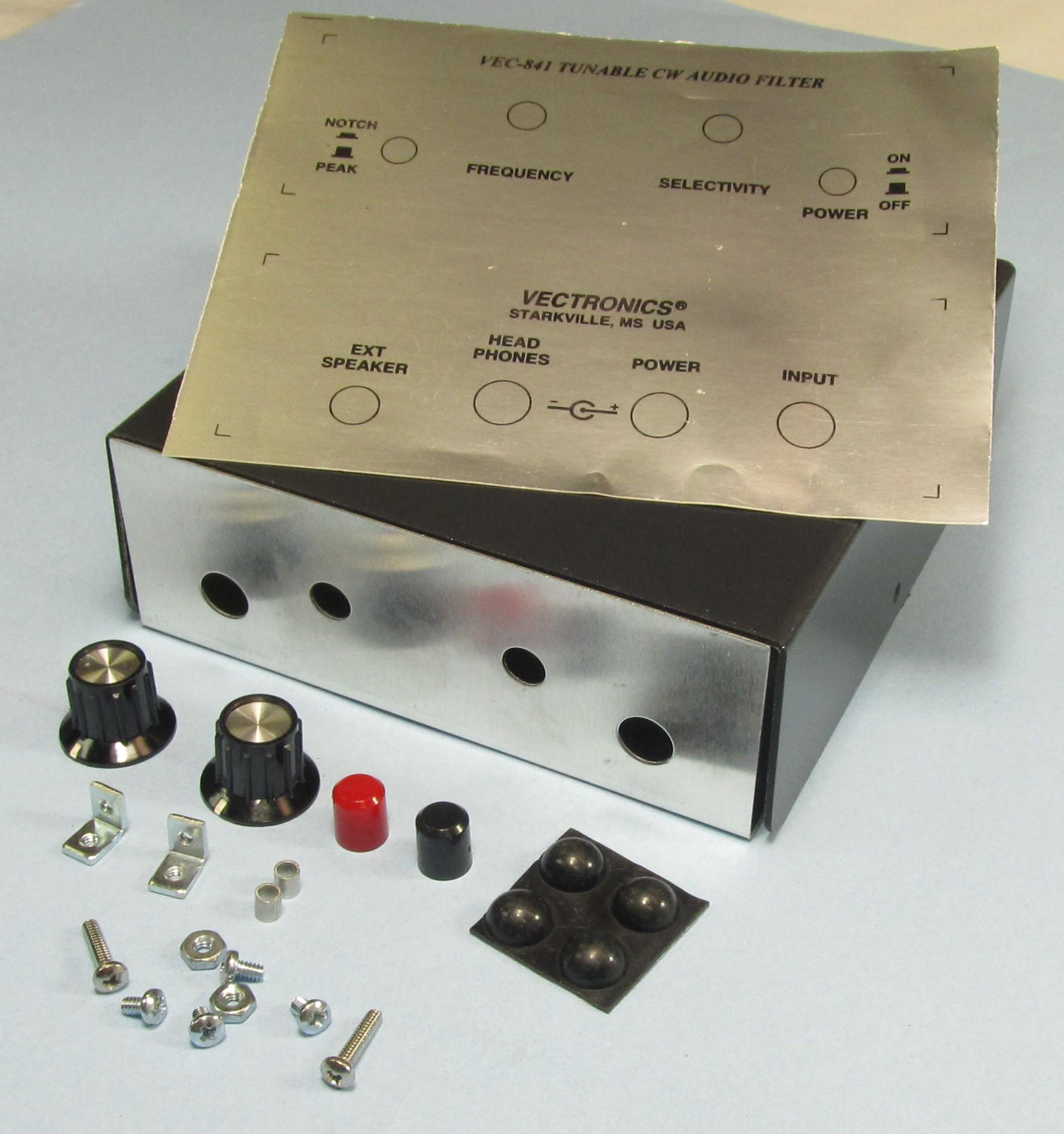 VEC-841KC Vectronics Metal Case & Knob Set for VEC-841K kit