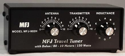 MFJ-902H Manual Travel Tuner 3.5-30MHz 150W