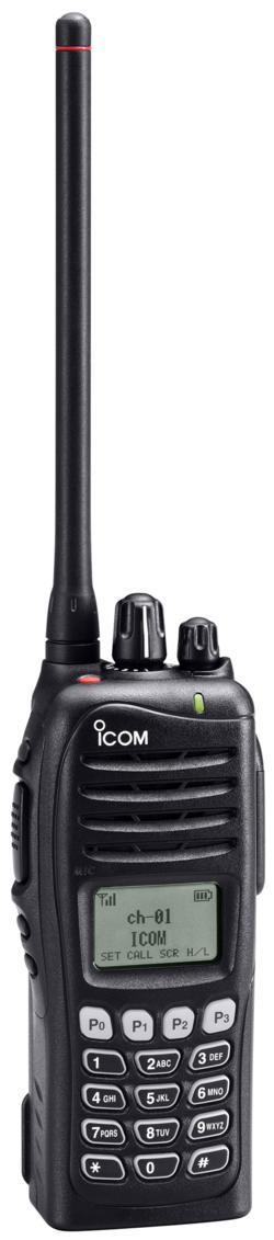 icom IC-F3162T VHF advanced handheld radio (with keypad)