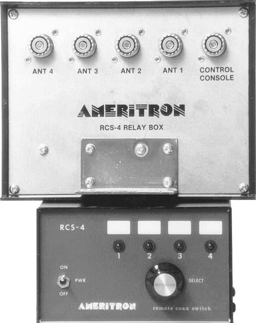 RCS-4X Ameritron 4-way Remote Coax Switch (SO-239)