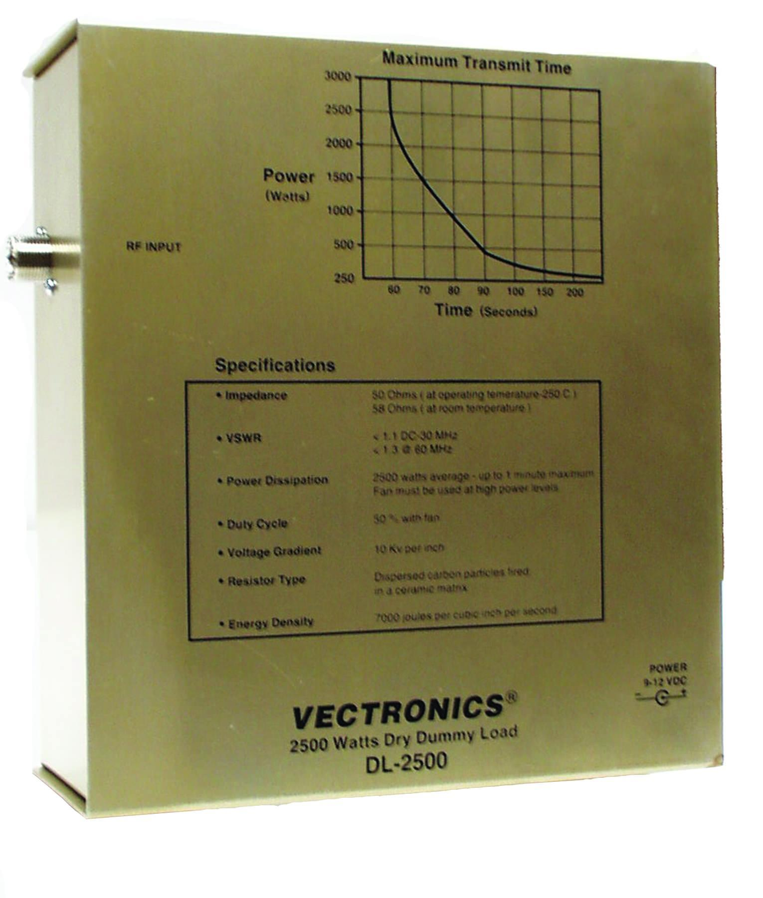 DL-2500N Vectronics 2.5kW Dummy Load (N-type)