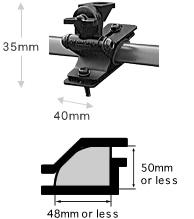 Diamond Roof Rail Mounting Bracket