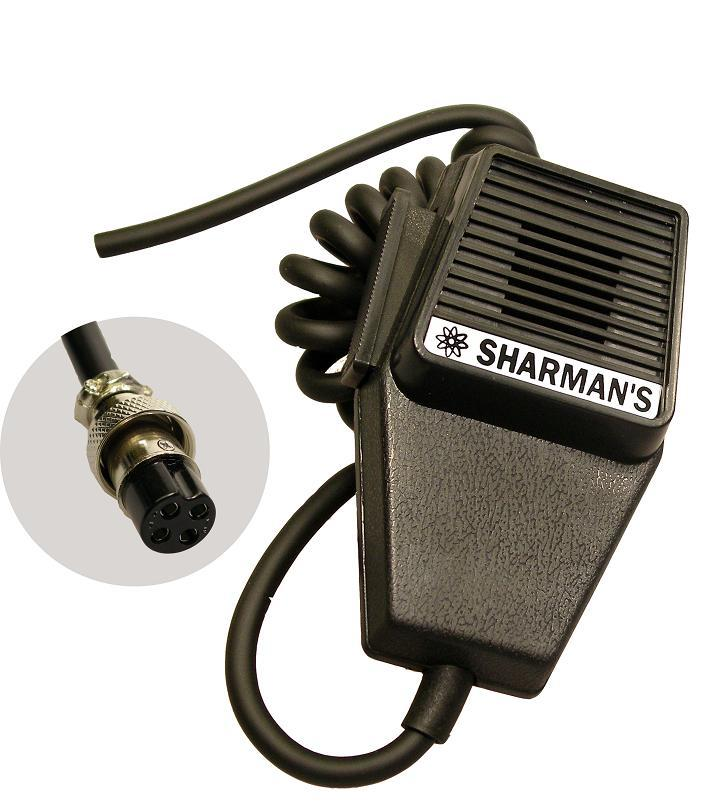 SHARMAN'S DM520P2 COFFIN MICROPHONE WITH 4PIN PLUG (UNIDEN WIRIN
