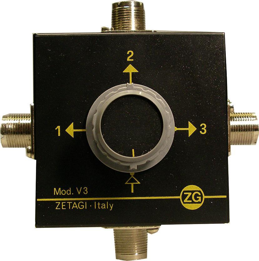 ZETAGI V3 3-WAY ANTENNA SWITCH 2KW MAX