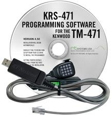 KRS-471 Programming Software and USB-K5D for the Kenwood TM-471