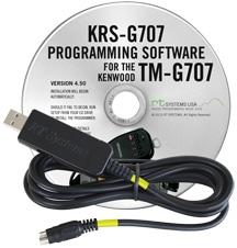 KRS-G707 Programming Software and USB-K4S Cable for the Kenwood