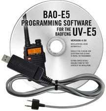 BAO-E5 Programming Software and USB-K4Y cable for the  Baofeng U