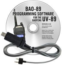 BAO-89 Programming Software and USB-K4Y cable for the  Baofeng U