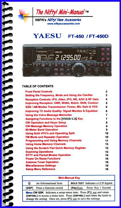 FT-450/  FT-450D Nifty Mini Manual
