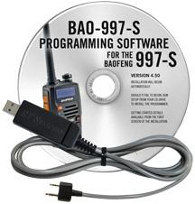 BAO-997S Programming Software and USB-K4Y cable for the  Baofeng