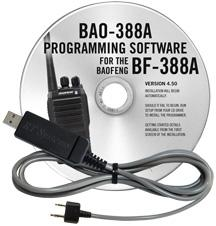 BAO-388A Programming Software and USB-K4Y cable for the  Baofeng