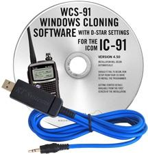 WCS-91 Programming Software and USB-29A cable for the Icom IC-91