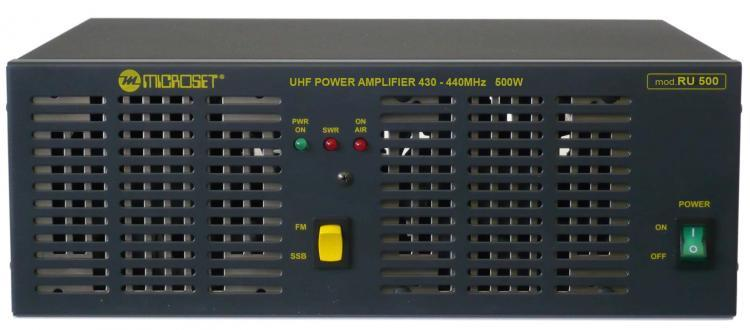 Microset RU-500 500W solid-state amp UHF band 430-440 MHz