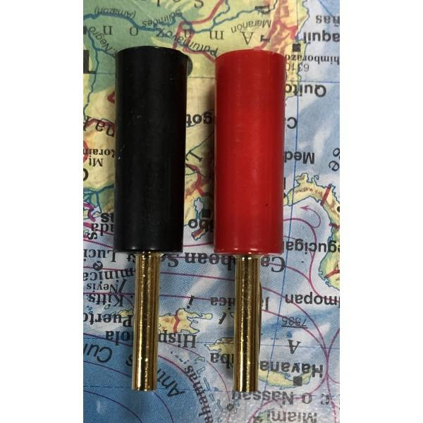 BANANA PLUG RED AND BLACK PAIR (PLASTIC)
